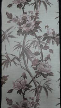big flowers vintage wallpaper