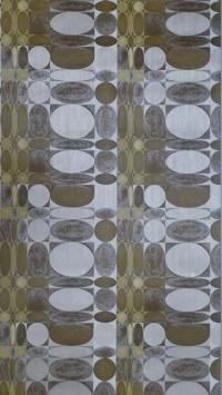 brown yellow geometric pattern vintage wallpaper