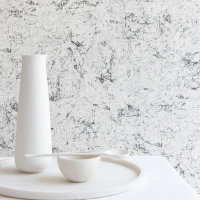 Old stone imitation wallpaper white-black