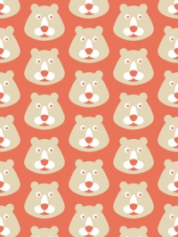 bear on a red background