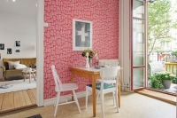 Miss Print wallpaper Little trees fuchsia