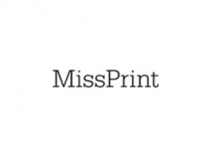 Miss Print wallpaper Fern blue white