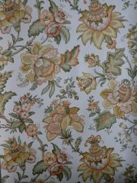 vintage floral wallpaper orange green