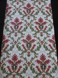 vintage damask wallpaper red green