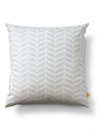 White pillow with beige waves