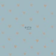 ESTA wallpaper copper hearts on a blue background