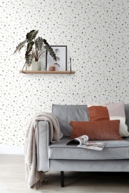 ESTA terrazzo wallpaper green, pink brown