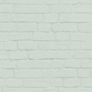 Mint green bricks wallpaper