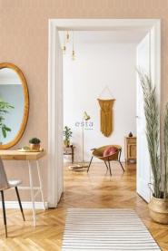 ESTA art deco wallpaper brown with white arches