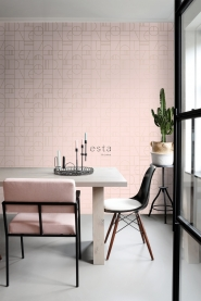 ESTA art deco wallpaper pink and gold