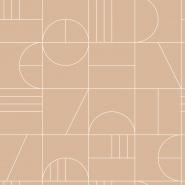 ESTA art deco wallpaper beige and white