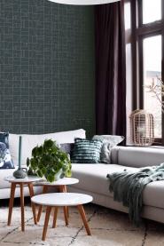 ESTA art deco wallpaper mint dar blue and gold