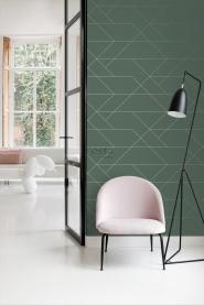 ESTA art deco wallpaper dark green and gold