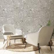 Grey cork squares imitation wallpaper
