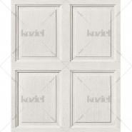 English wood panelling imitation wallpaper porcelaine white