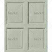 English wood panelling imitation wallpaper Lovat green