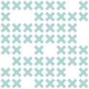 LAVMI wallpaper System blue crosses