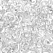 Burgermash colour in wallpaper