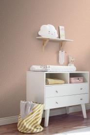 Dark pink with white arches art deco wallpaper