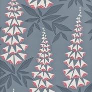 Miss Print wallpaper Foxglove Blue