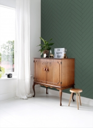 Dark green-black chevron wallpaper