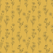 Lilipinso wallpaper chamomile flowers ochre