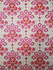 red pink damask vintage wallpaper