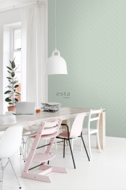 Mint-white chevron wallpaper