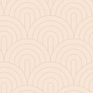 Beige with copper arches art deco wallpaper