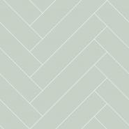 Mint-white chevron wallpaper