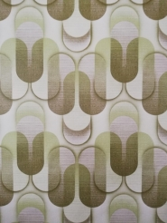 geometric vintage wallpaper green