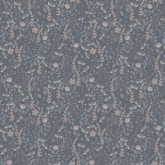 Lilipinso wallpaper little flowers grey, pink, violet