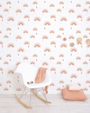 Lilipinso wallpaper rainbow pink