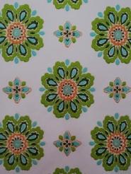 vintage floral wallpaper green