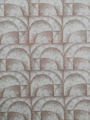 Vintage geometric wallpaper brown arches