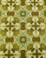 Green beige vintage geometric wallpaper