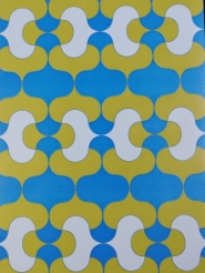 Vintage geometric wallpaper green blue