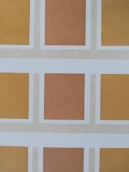 Ochre brown vintage geometric wallpaper