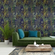 Premium wallpaper Green Sanctuary anthracite