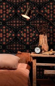 Premium wallpaper Hindu Bloom Anthracite