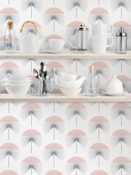 LAVMI wallpaper Fluff grey-pink