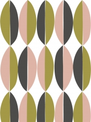 LAVMI wallpaper Ficus green pink grey geometric figure