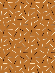 white and black lines on a brown background
