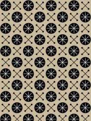 Lavmi Wallpaper Sky black geometric figure on a beige background