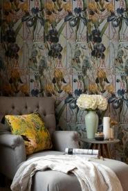 Premium wallpaper Fleurs d'Iris Aquamarine