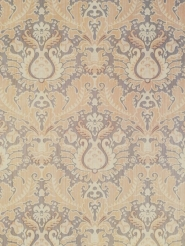 Brown beige floral damask vintage wallpaper