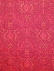 Red floral damask vintage wallpaper