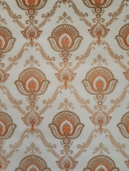 Orange and golden classic vintage wallpaper