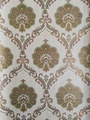 Green golden damask vintage wallpaper