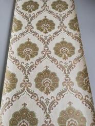 Green golden damask vintage wallpaper